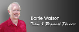 Barrie Watson, Urban and Regional Planner