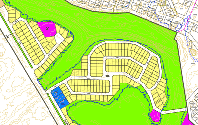 Map, low income township